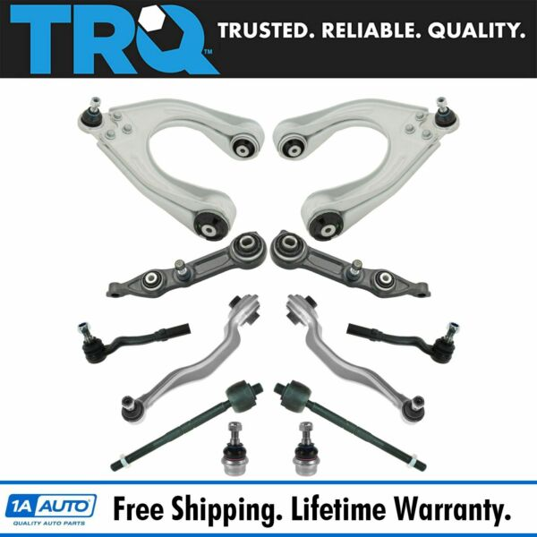TRQ Front Suspension Control Arms Tied Rods Ball Joints Kit for Mercedes Benz