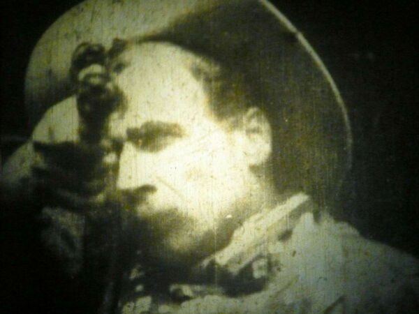 35MM NITRATE- a knock-off of  EDWIN PORTER'S THE GREAT TRAIN ROBBERY - 1903