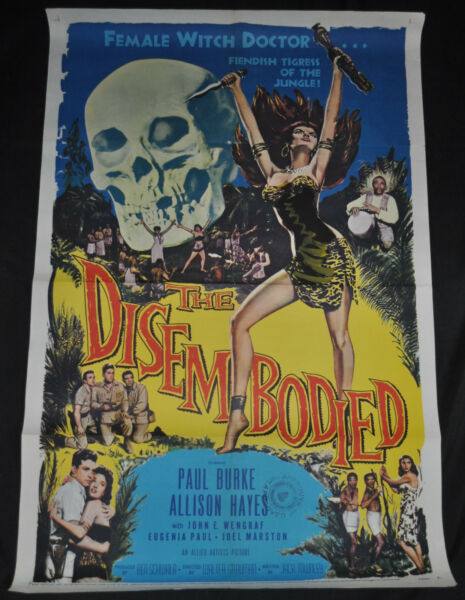 The Disembodied Original One Sheet Movie Poster - Allied Artists (1957) ITB WH