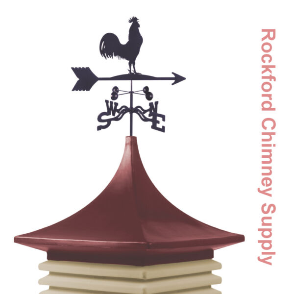 Cupola and Weathervane 30 in. x 30 in. Base 51 in. Cupola Height