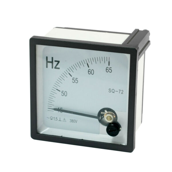 AC 380V 45-65Hz Range Square Dial Frequency Measurement Panel Meter