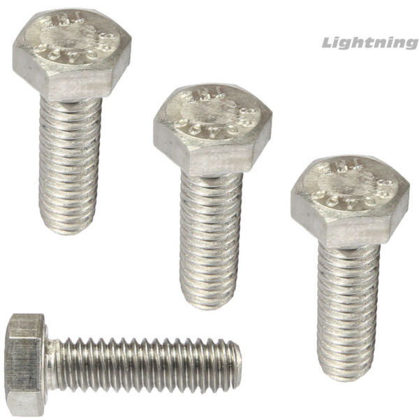 1 4quot; 20 Hex Head Cap Screws Tap Bolts 304 Stainless Steel Fully Threaded Qty 25