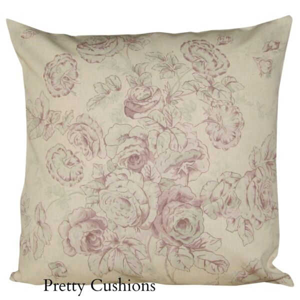 Sanderson Joie De Vivre Cushion Cover 16'' Cabbages & Roses
