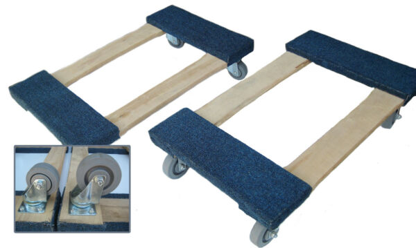NK Furniture Movers Dolly Soft Gray Non marking TPR 17quot; x 30quot; 3quot; or 4quot; casters $84.95