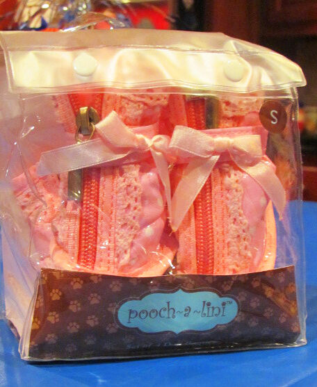 POOCH A LINI Dog Booties Shoes Full Zipper & Velcro Closure Small Brand New