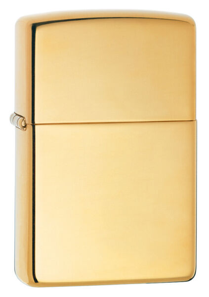 Zippo Windproof High Polished Brass Lighter # 254B New In Box