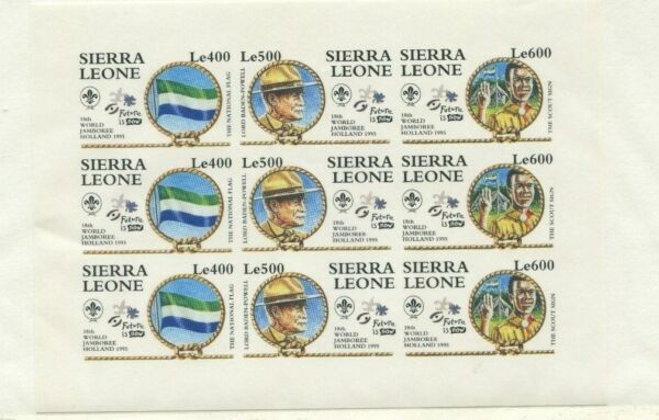 Sierra Leone 1995 Scouts Scott 1809 var Imperf Mini Sheet $100.00
