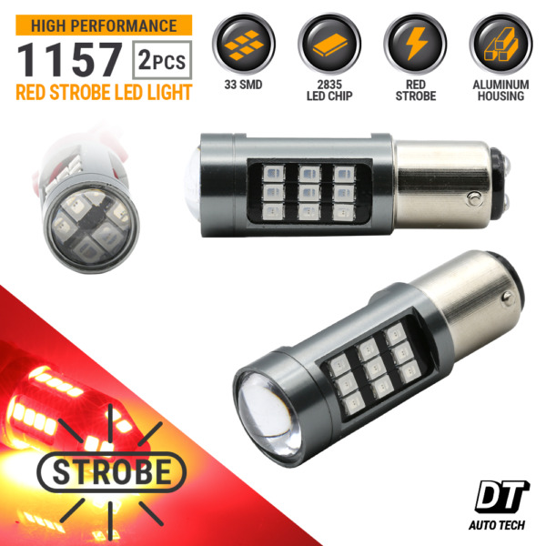 1157 LED Strobe Flashing Blinking Brake Tail Light/Parking Safety Warning Bulbs