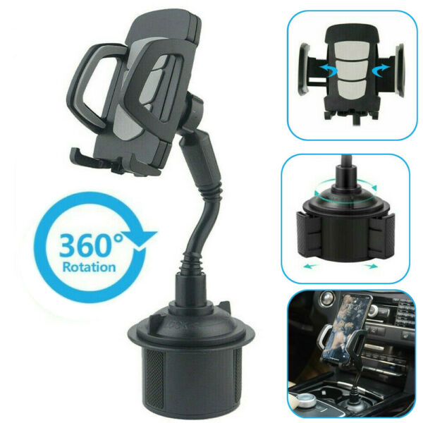Universal Car Mount Adjustable Gooseneck Cup Holder Stand Cradle for Cell Phone $9.29