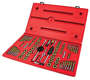 ATD Tools 276 Machine Screw Fractional & Metric Tap & Die Set 76 pc.