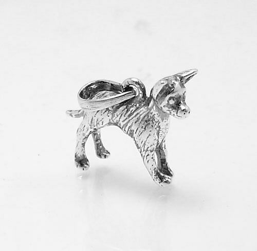 3D CHIHUAHUA Puppy Dog Charm Pendant Real 925 Sterling Silver Great Details $18.16