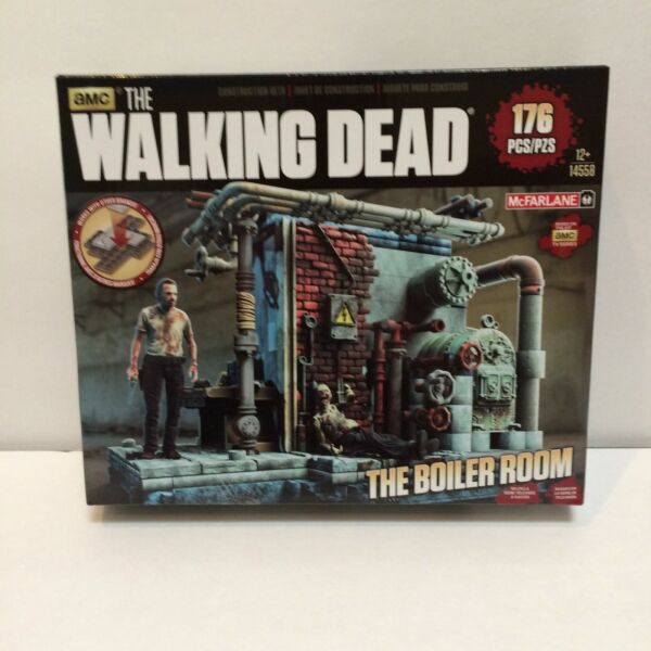 MCFARLANE WALKING DEAD TV BUILDING SETS THE BOILER ROOM