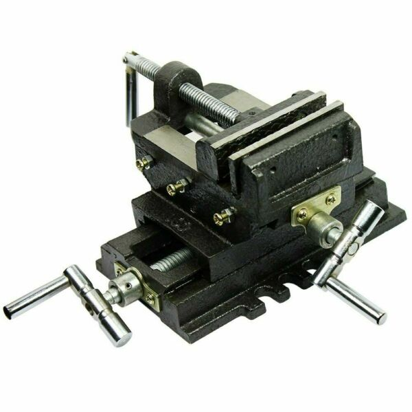 Cross Slide Vise 4quot; inch Wide Drill Press X Y Clamp Milling Heavy Duty 2 Way