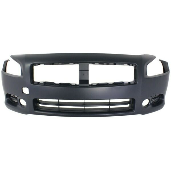 Front Bumper Cover For 2009 2014 Nissan Maxima w fog lamp holes Primed $115.81