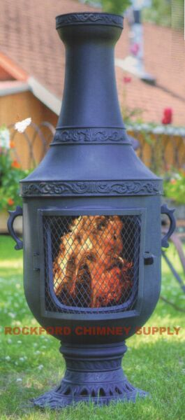 Wood Burning Outdoor Fireplace Venetian Chiminea by Blue Rooster
