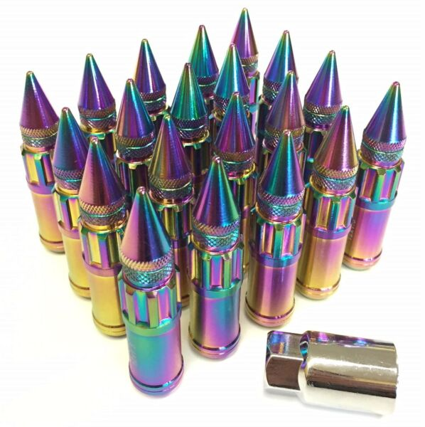 NRG STEEL EXTENDED LUG NUT 12X1.25MM NEO CHROME UNIVESAL SPIKED FOR NISSAN $128.00
