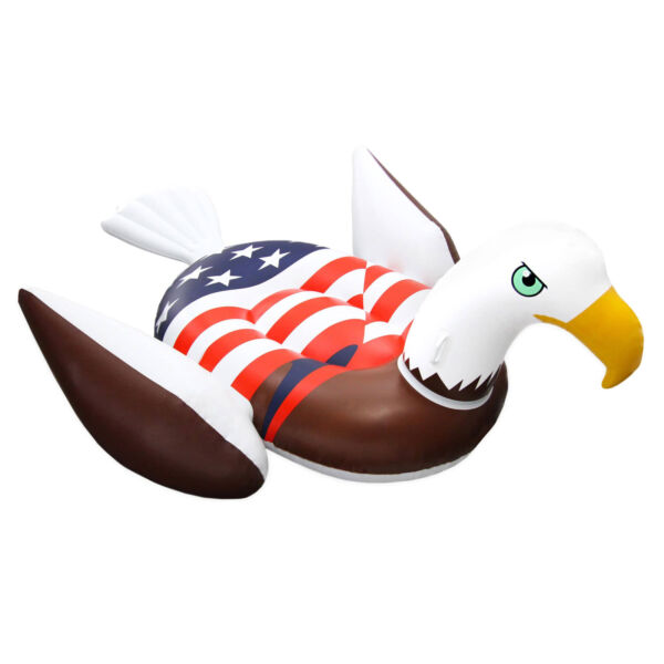 Swimline 90700 Inflatable American Bald Eagle Giant Riding Patriotic Pool Float