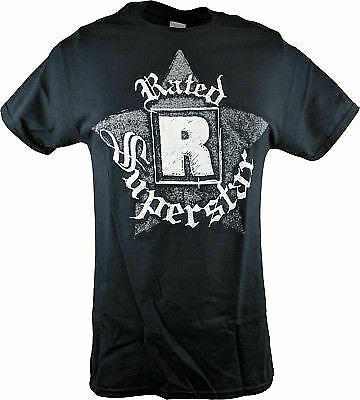 Edge Rated R Superstar Logo Mens Black T shirt