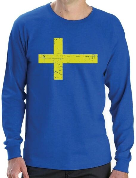 Sweden Flag Vintage Style Retro Swedish Long Sleeve T Shirt Gift Idea