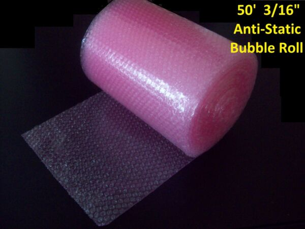 50 Foot PINK Anti-Static Bubble Wrap® Roll! 3/16