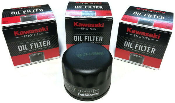 NEW Pack of 3 Genuine Kawasaki 49065-7007 49065-0721 Oil filter Made in the USA