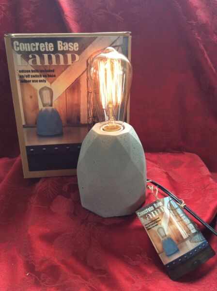 NEW NIB Electric FLAWLESS Exceptional Accent CONCRETE BASE LAMP