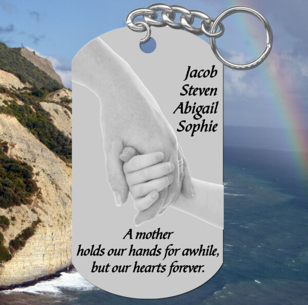 Hands Pic MOM Keychain Gift Personalized for FREE w#x27; kids names Mother $9.95