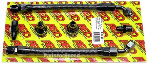 AED B6094BK Black Carb Line Kit for Holley or Mallory Fuel Pressure Regulators $92.99