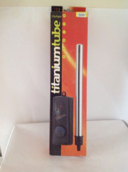VIAAQUA TITANIUM TUBE AQUARIUM HEATER 50 WATT SUBMERSIBLE $40.84
