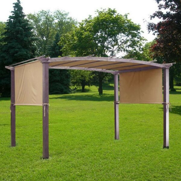 17x6.5Ft Pergola Canopy Replacement Cover Outdoor Yard Patio Tan 200g UV30