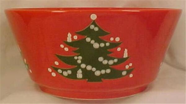 Waechtersbach Germany Christmas Tree Bowl Round Vegetable Very Good Condition
