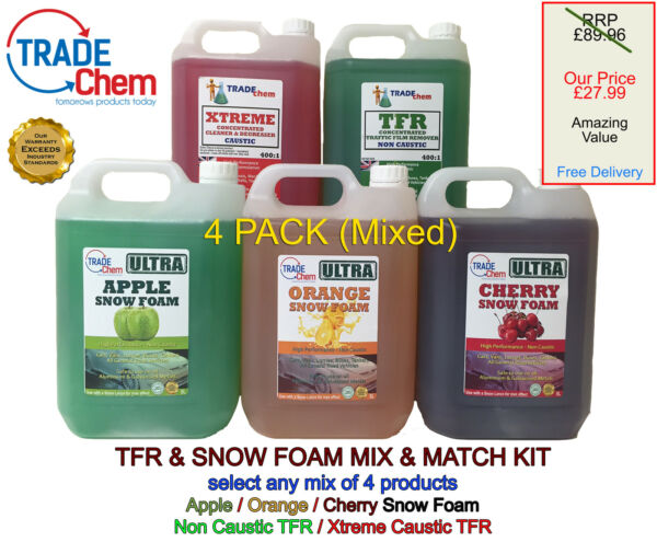 TFR Snow Foam Car Shampoo - Valet Cleaning Pressure Washer Mixed Pack