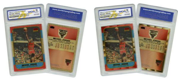 NEVER BEFORE SEEN Genuine FLEER MICHAEL JORDAN quot;1986quot; ROOKIE PolyChrome Cards *2