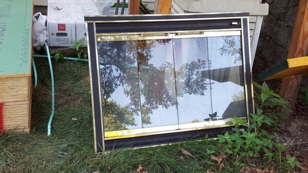 GlassFyre Fireplace Enclosure with Wire Mesh amp; Brackets