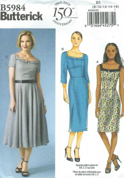 Butterick 5984 Misses' Dress   Sewing Pattern
