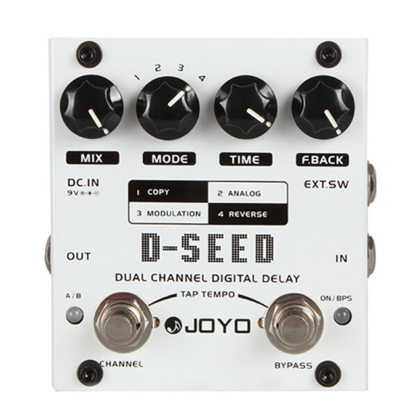 Joyo D-SEED Dual Channel Digital Delay 4-Mode Guitar Effect Pedal with Tap Tempo