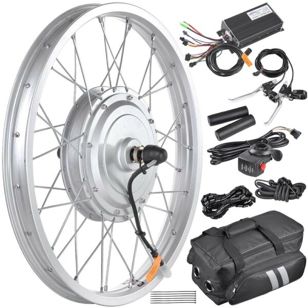 36V 750W 20quot; Front Wheel Electric Bicycle eBike Motor Conversion Kit Fat Tire $199.90