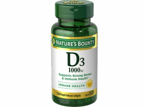 Nature's Bounty Vitamin D3 1000 IU Immune Health, 120 Softgels