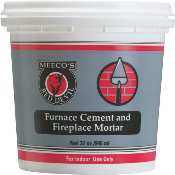 6 Pk Meeco´s Red Devil 1 Qt. Gray Furnace Cement & Fireplace Mortar 1354