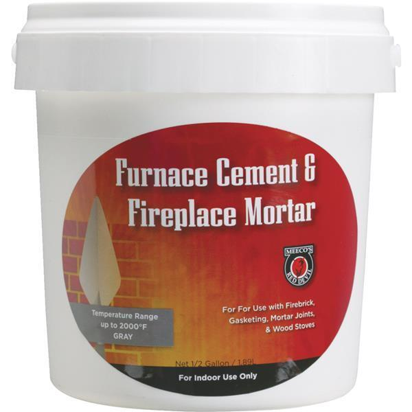 4 Pk Meeco´s Red Devil 12 Gal. Gray Furnace Cement & Fireplace Mortar 1355