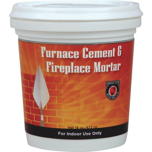 12-Meeco´s Red Devil 12 Pt. Gray Furnace Stove Cement & Fireplace Mortar 1352