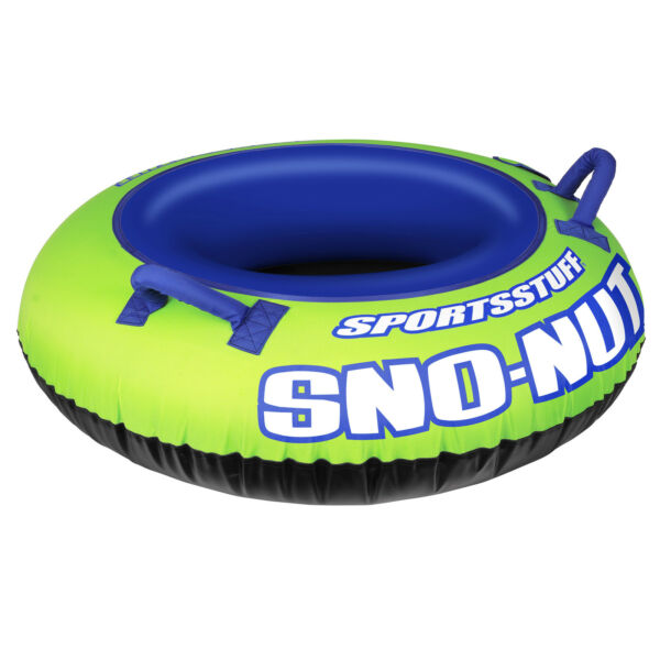 Sportsstuff Inflatable 48-Inch Sno-Nut Snow Tube with Foam Handles  30-3201