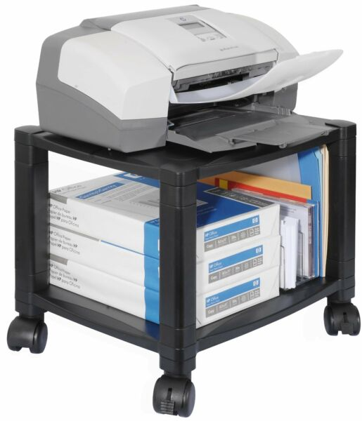 Printer Table With Storage Fax Laptop Shelves Office Home Wheel Rolling Stand