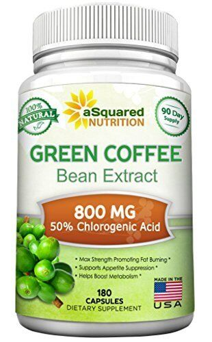 Green Coffee Bean Extract - 180 Caps for Weight Loss