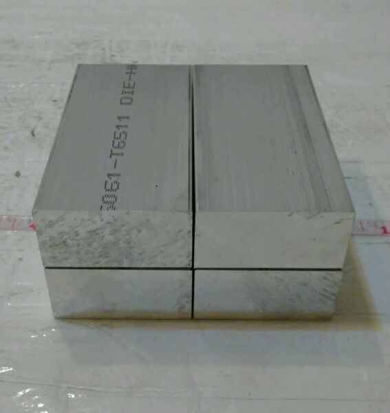 4 pc 1quot; X 2quot; X 4quot; long new 6061 solid aluminum plate flat stock bar cnc block