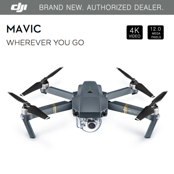 DJI Mavic Pro Folding Drone - 4K Stabilized Camera, GPS