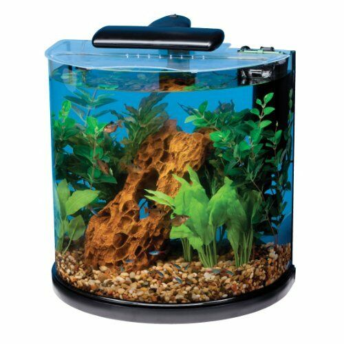 Tetra Starter Kits Half Moon Aquarium Kit10-Gallon Includes a 50-watt heater