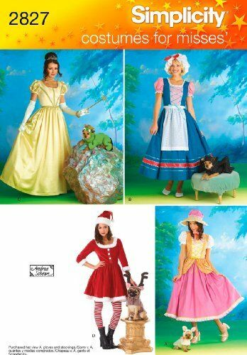 NEW OOP SIMPLICITY STEAMPUNK PRINCESSES amp; DOG SEWING PATTERN 2827 Dress GOWN $9.95