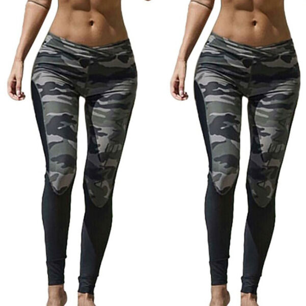 Camouflage Fitness Leggings Leggins Pants Sport Fitness Yoga Jogging Tights Hose