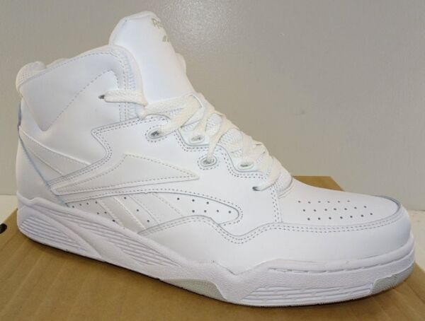 REEBOK BB4600 Mid Men's Basketball Shoes  White Leather  NWD   6.5 to 15M